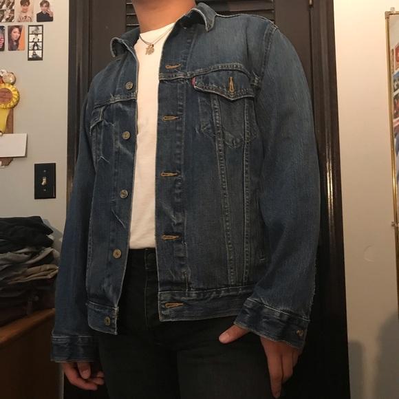 classic dark denim jacket